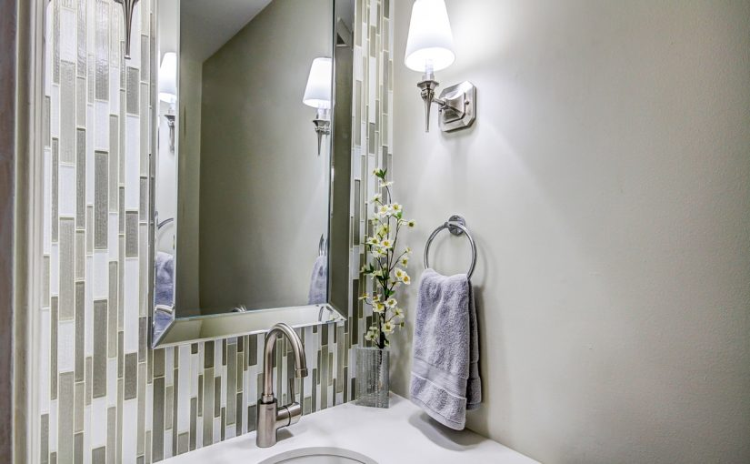 Mosaic Tiles Make a Big Impact in This Small Powder Room