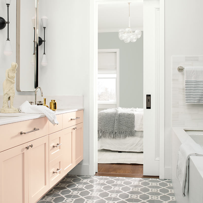 Beautiful Bathroom Color Schemes For 2018: Benjamin Moore's 2019 Colour Of The Year: Metropolitan AF