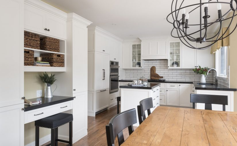 A Classic White Kitchen With a French Country Feel