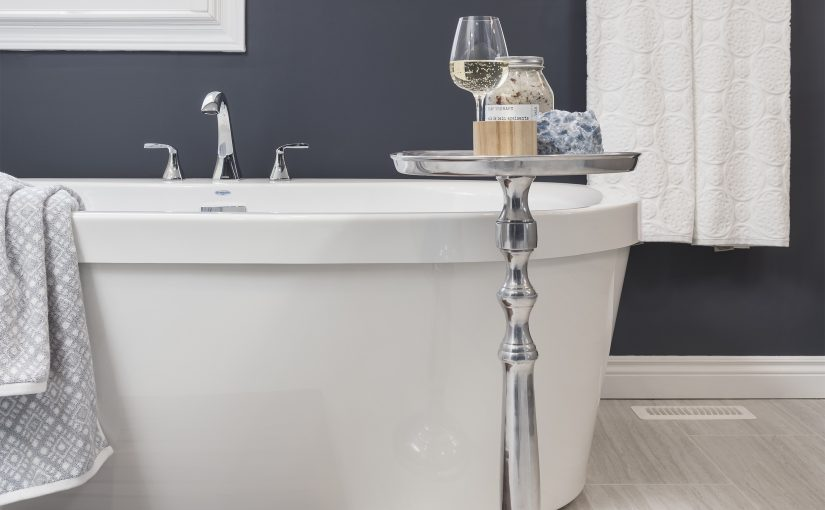 A Spa-Style Ensuite Bath with Storage to Spare
